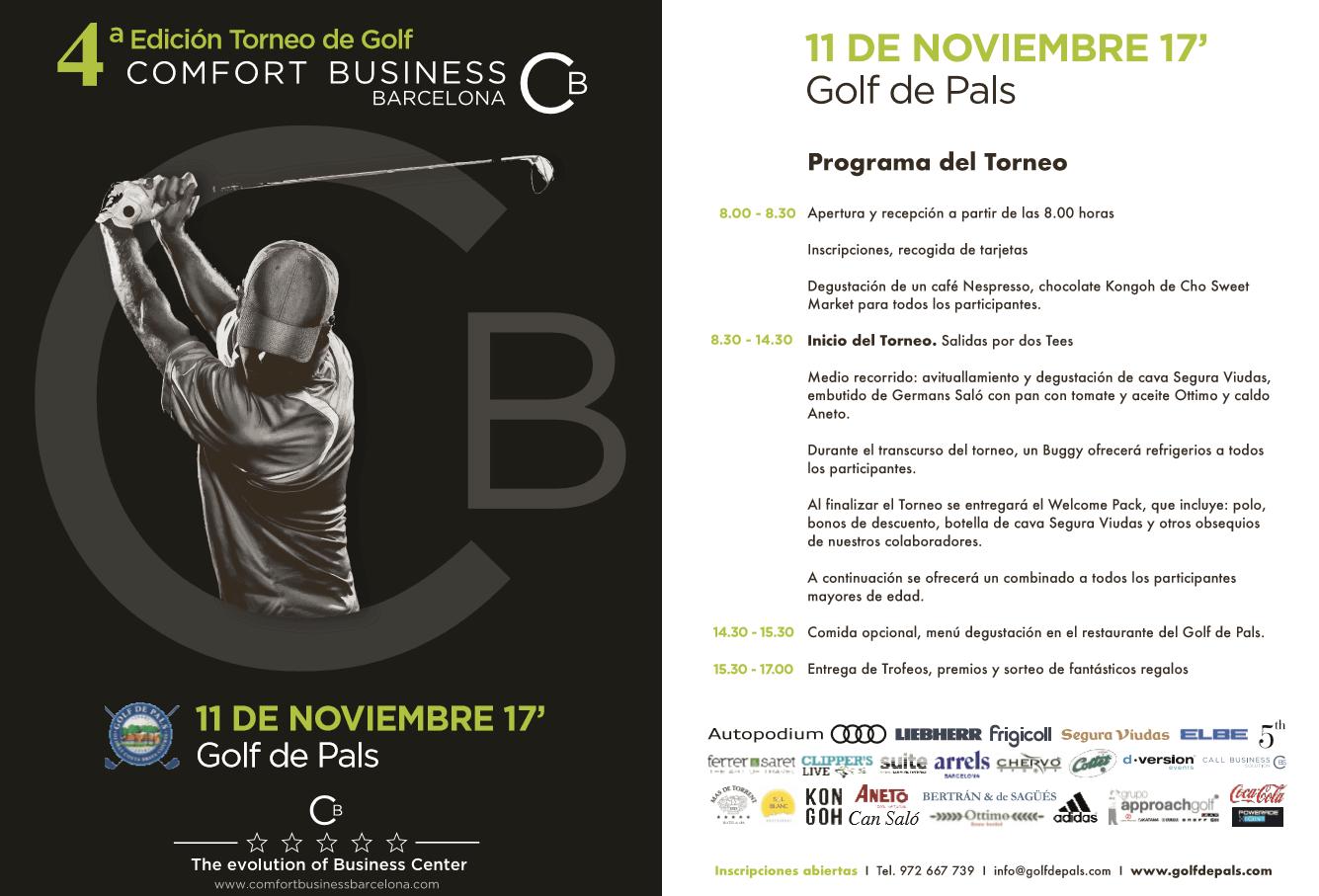 , 4ª Edición del Torneo de Golf organizado por Comfort Business Barcelona